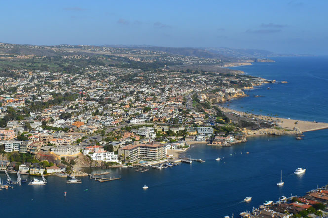 Aerial View of Corona Del Mar, California