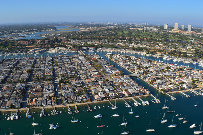 Aerial Photography of Balboa Main & Little Island in Newport Beach, California