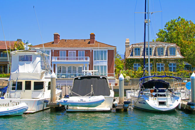 Newport Beach Bayfront Homes For Sale with Boat Slip Attached