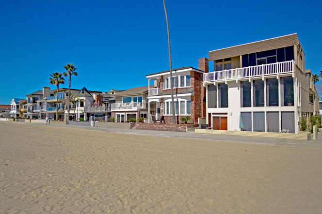 newport beach beachfront homes near huntington beach ca