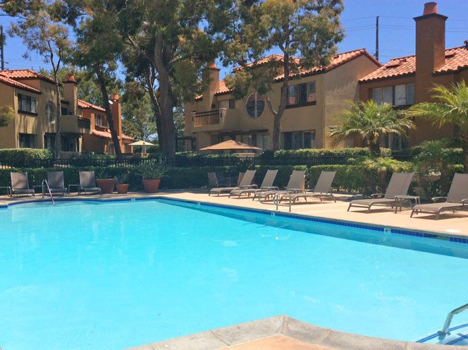 Big Canyon Villas Community Pool in Newport Beach, California