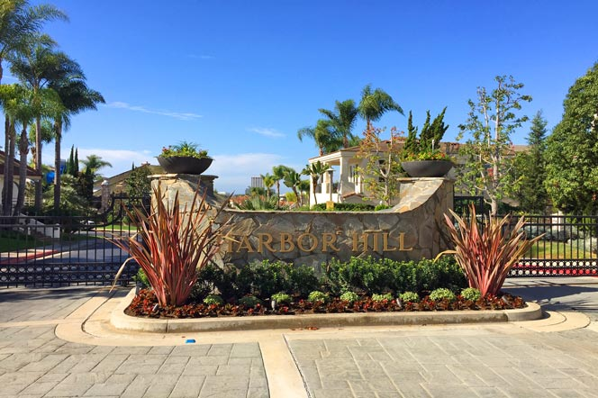 Harbor Hill Gated Community in Newport Beach, California