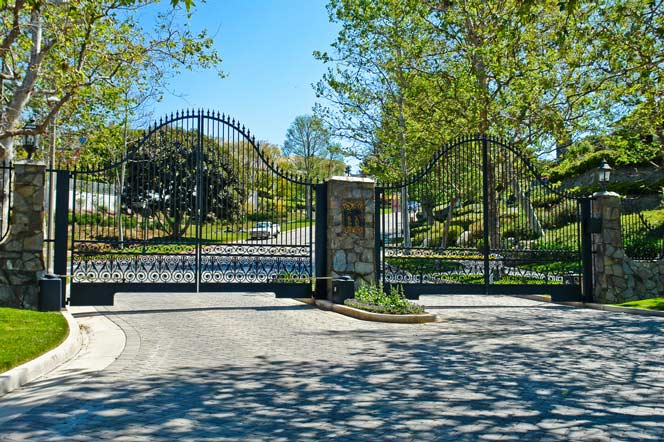Harbor Ridge Gated Entrance in Newport Beach, California