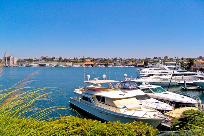 Lido Island Community In Newport Beach, California