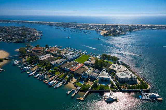 View of Harbor Island Newport Beach